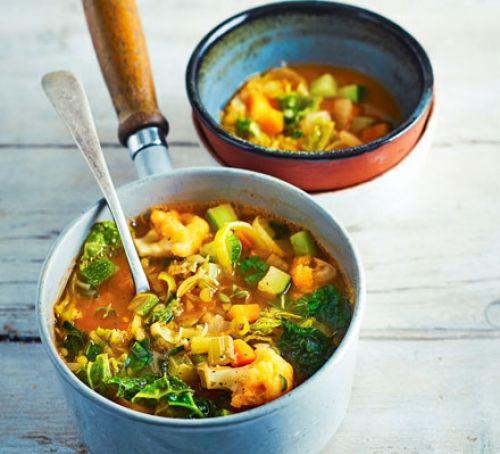 Healthy Low Calorie Soup Recipes  Rustic ve able soup recipe