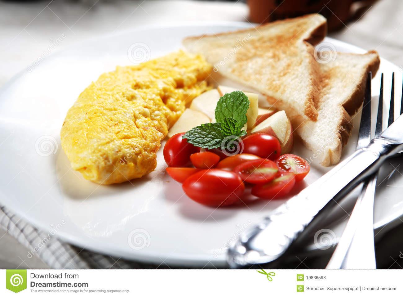 Healthy Low Cholesterol Breakfast  Healthy Low fat Breakfast 02 Royalty Free Stock s
