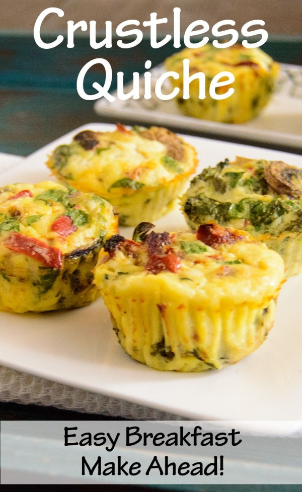 Healthy Low Cholesterol Breakfast  Healthy Easy Crustless Quiche low fat high protein