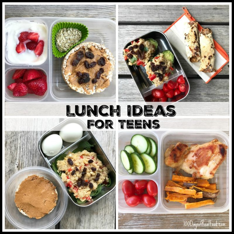 Healthy Lunches For Teens  Lunch Ideas for Teens by Kiran 100 Days of Real Food