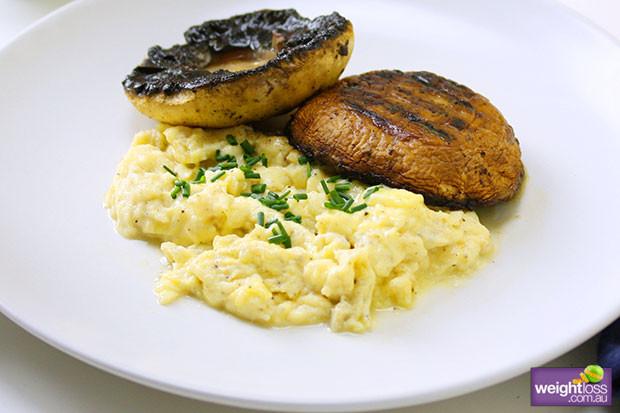 Healthy Mushroom Recipes For Weight Loss  Field Mushroom Scrambled Eggs