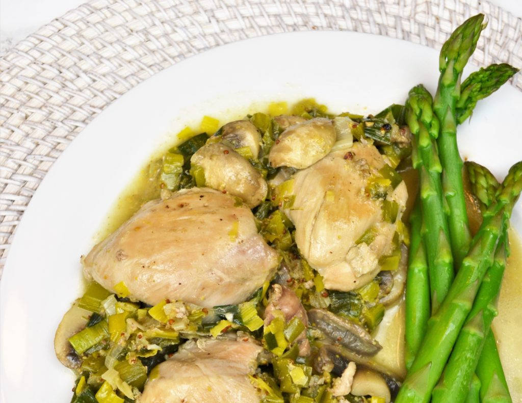 Healthy Mushroom Recipes For Weight Loss  Healthy Mushroom Leek and Chicken Thigh Recipe Weight