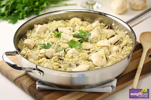 Healthy Mushroom Recipes For Weight Loss  Chicken & Mushroom Risotto