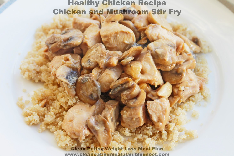 Healthy Mushroom Recipes For Weight Loss  Healthy Chicken Recipe Chicken and Mushroom Stir Fry