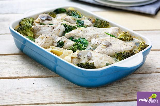 Healthy Mushroom Recipes For Weight Loss  Chicken & Mushroom Bake