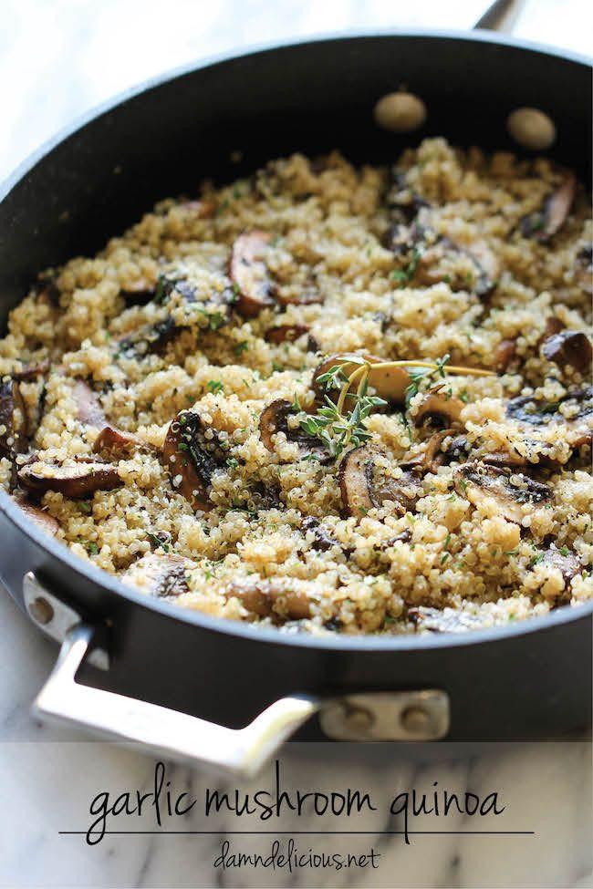 Healthy Mushroom Recipes For Weight Loss  Garlic Mushroom Quinoa Recipe