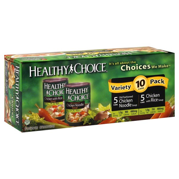 Healthy Noodles Costco  Healthy Choice Chicken Noodle Soup Variety Pack from