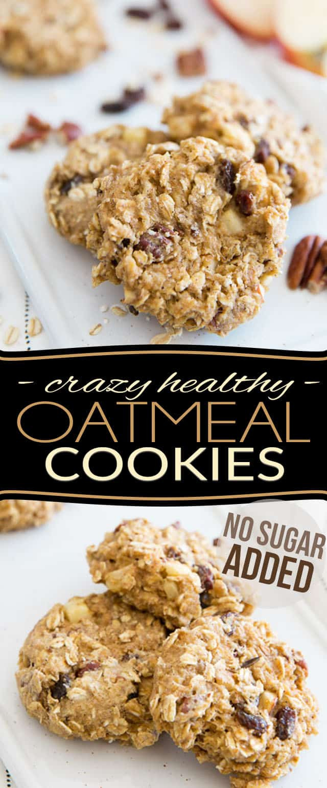 Healthy Oatmeal Cookies No Sugar  Crazy Healthy Oatmeal Cookies No Sugar Added • The