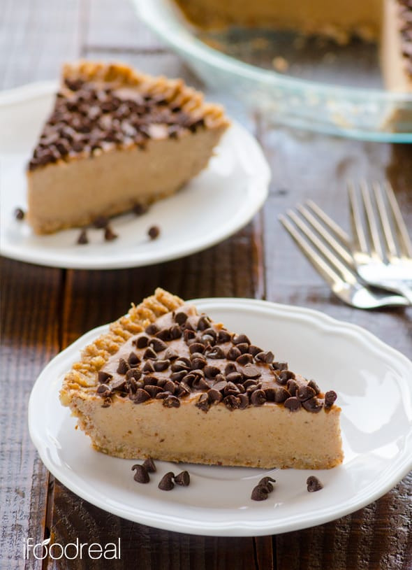 Healthy Peanut Butter Pie  Healthy Peanut Butter Pie iFOODreal Healthy Family Recipes