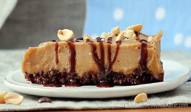 Healthy Peanut Butter Pie  No Bake Peanut Butter Pie