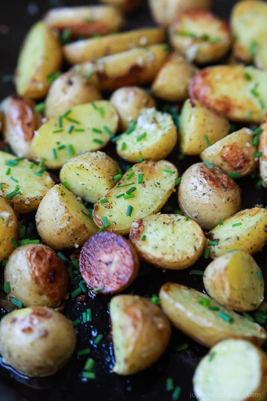 Healthy Potato Recipes  Easy Garlic Ranch Potatoes
