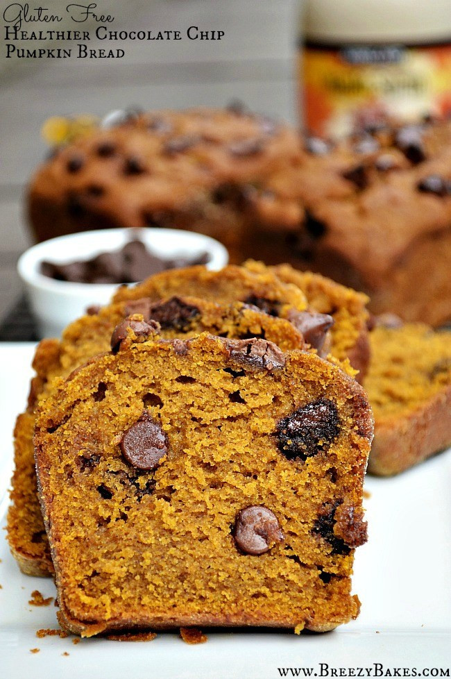 Healthy Pumpkin Chocolate Chip Bread  Gluten Free Healthy Chocolate Chip Pumpkin Bread Breezy