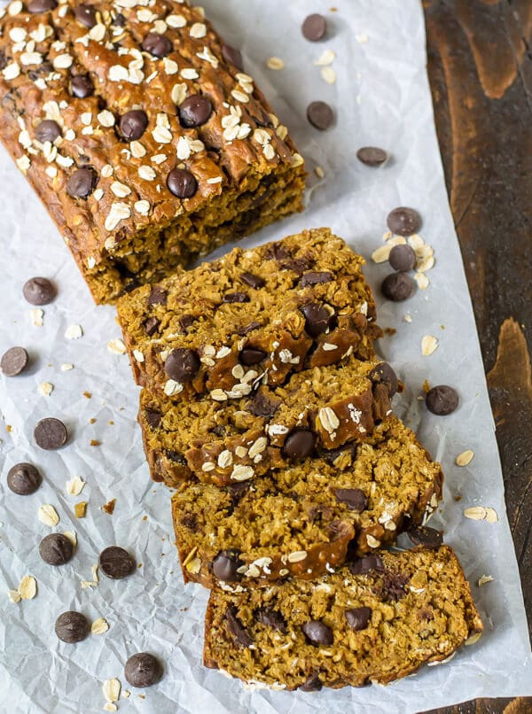 Healthy Pumpkin Chocolate Chip Bread  Healthy Pumpkin Bread