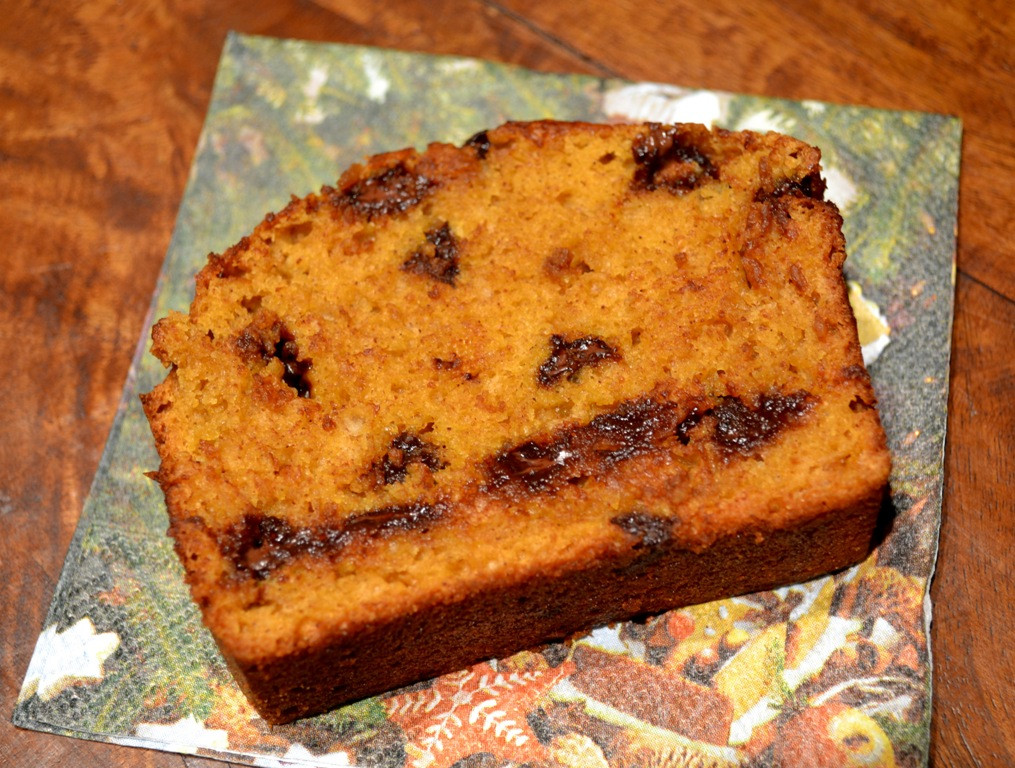 Healthy Pumpkin Chocolate Chip Bread  Hungry Meets Healthy Low Fat Chocolate Chip Pumpkin Bread