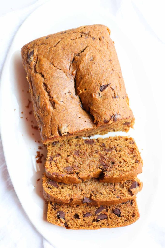 Healthy Pumpkin Chocolate Chip Bread  Healthy Pumpkin Chocolate Chip Bread