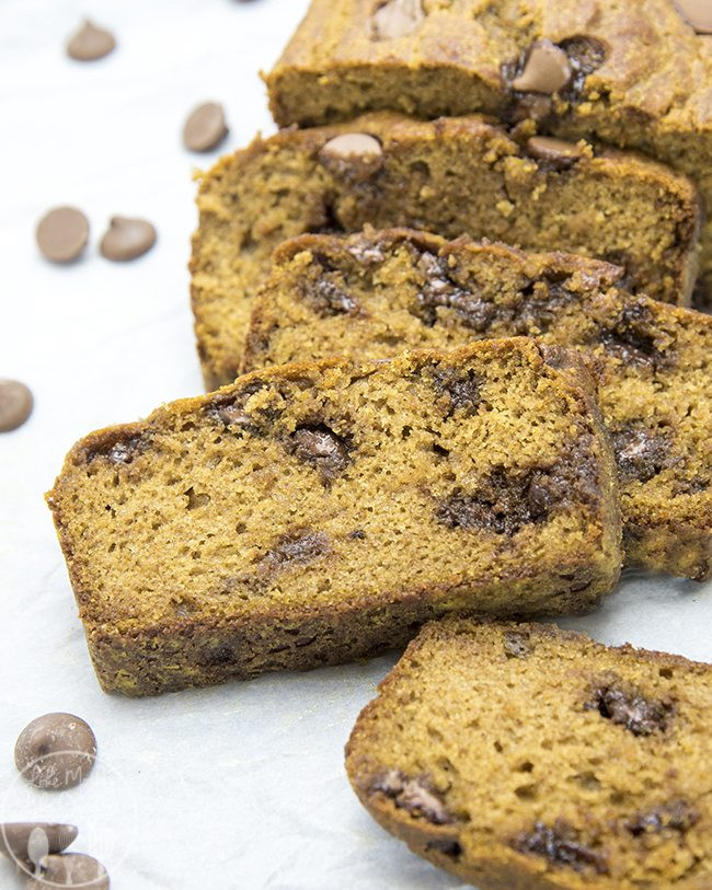 Healthy Pumpkin Chocolate Chip Bread  Healthier Pumpkin Chocolate Chip Bread Lmldfood
