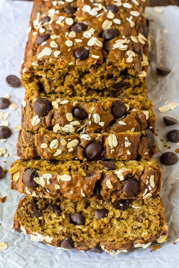 Healthy Pumpkin Chocolate Chip Bread  Pumpkin Chocolate Chip Bread