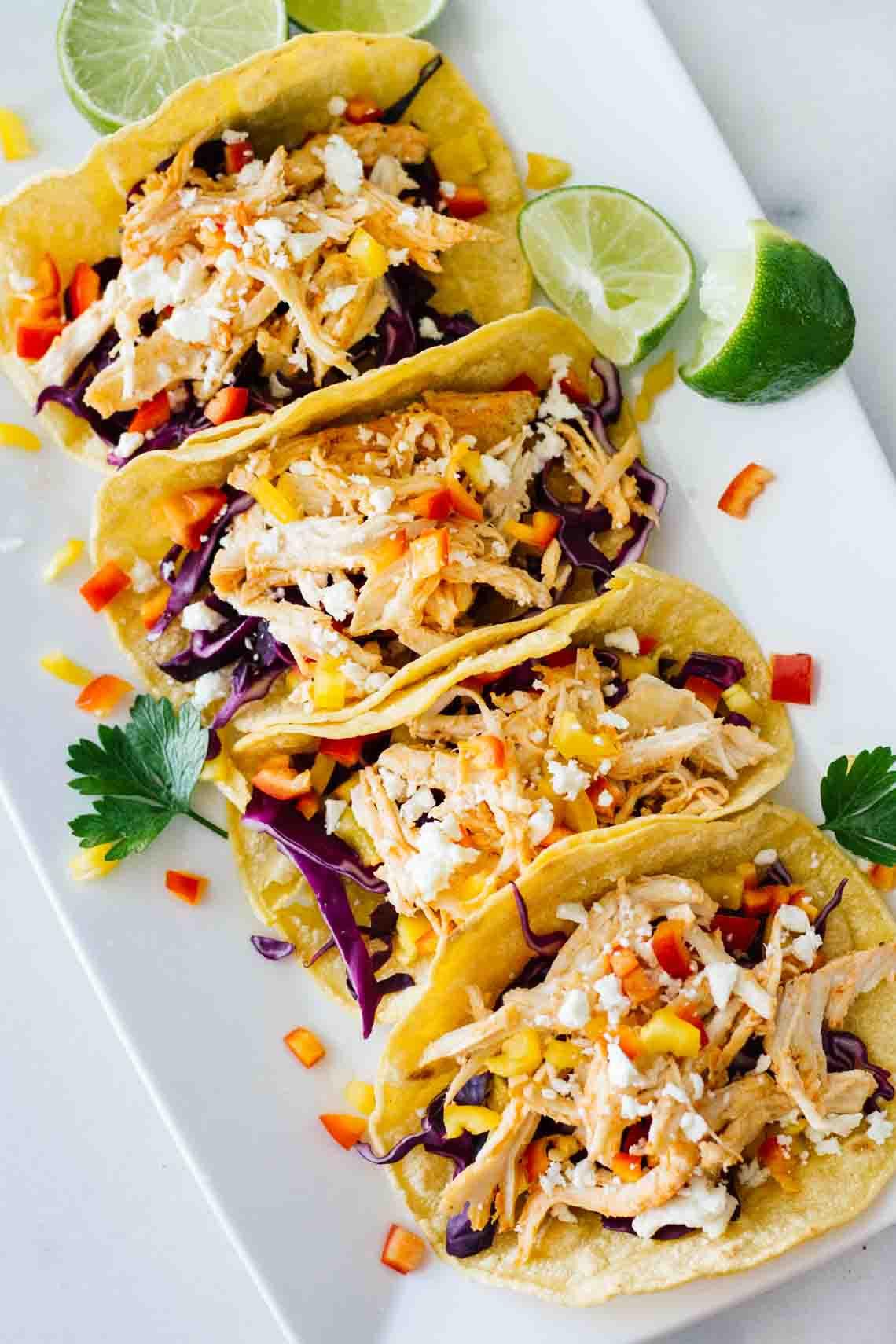 Healthy Quick Dinners  Healthy Sriracha Shredded Chicken Tacos Jar Lemons