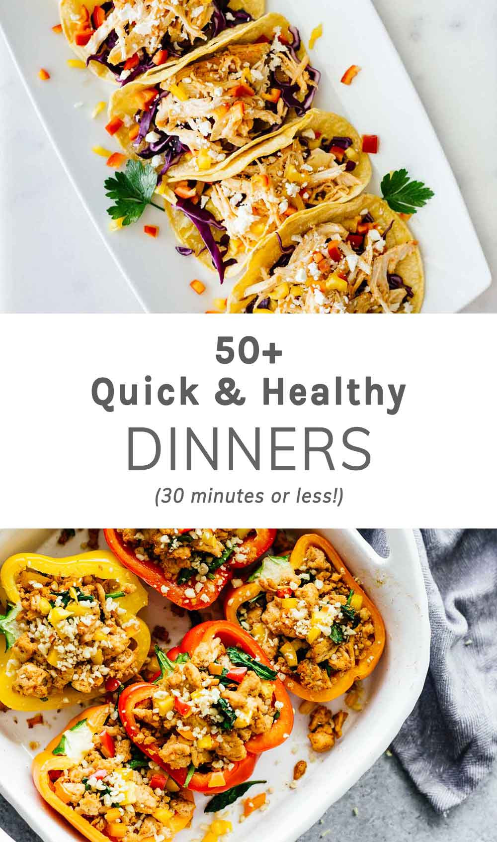 Healthy Quick Dinners  50 Quick Healthy Dinners 30 Minutes Less Jar Lemons