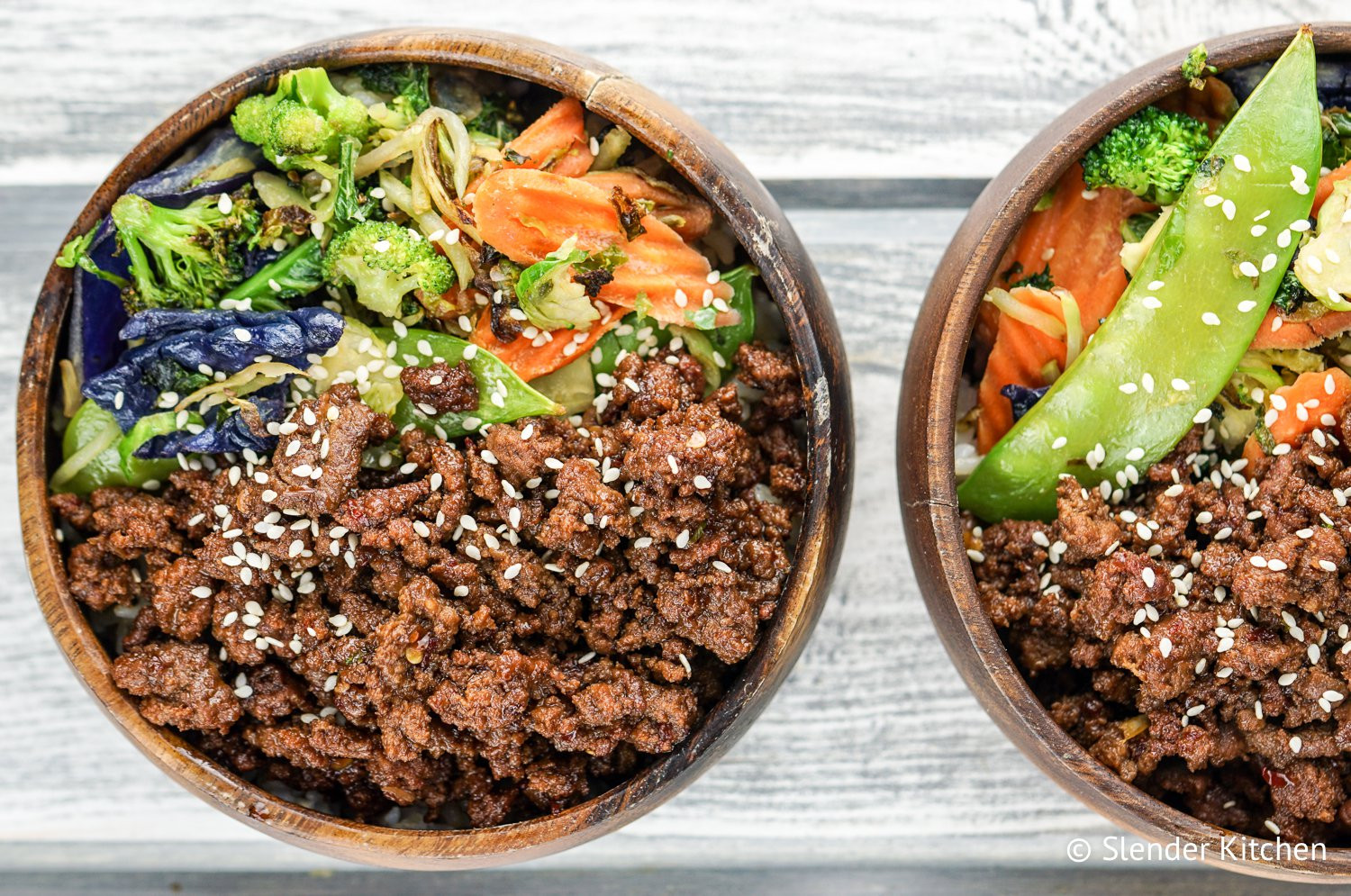 Healthy Recipes For Ground Beef  Healthy Korean Ground Beef with Ve ables Slender Kitchen