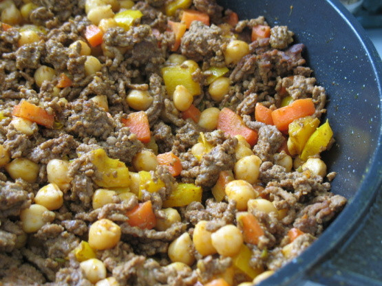 Healthy Recipes For Ground Beef  Singapore Noodles With Ground Beef And Chickpeas Recipe