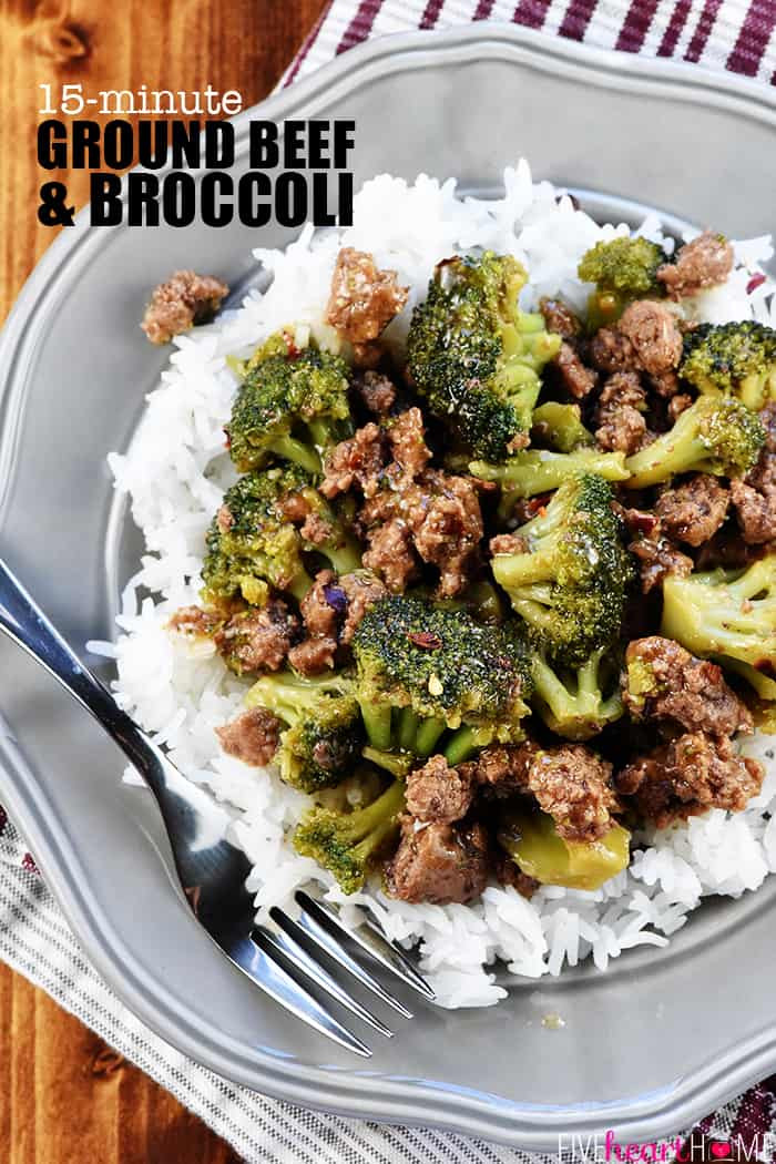 Healthy Recipes For Ground Beef  Ground Beef and Broccoli