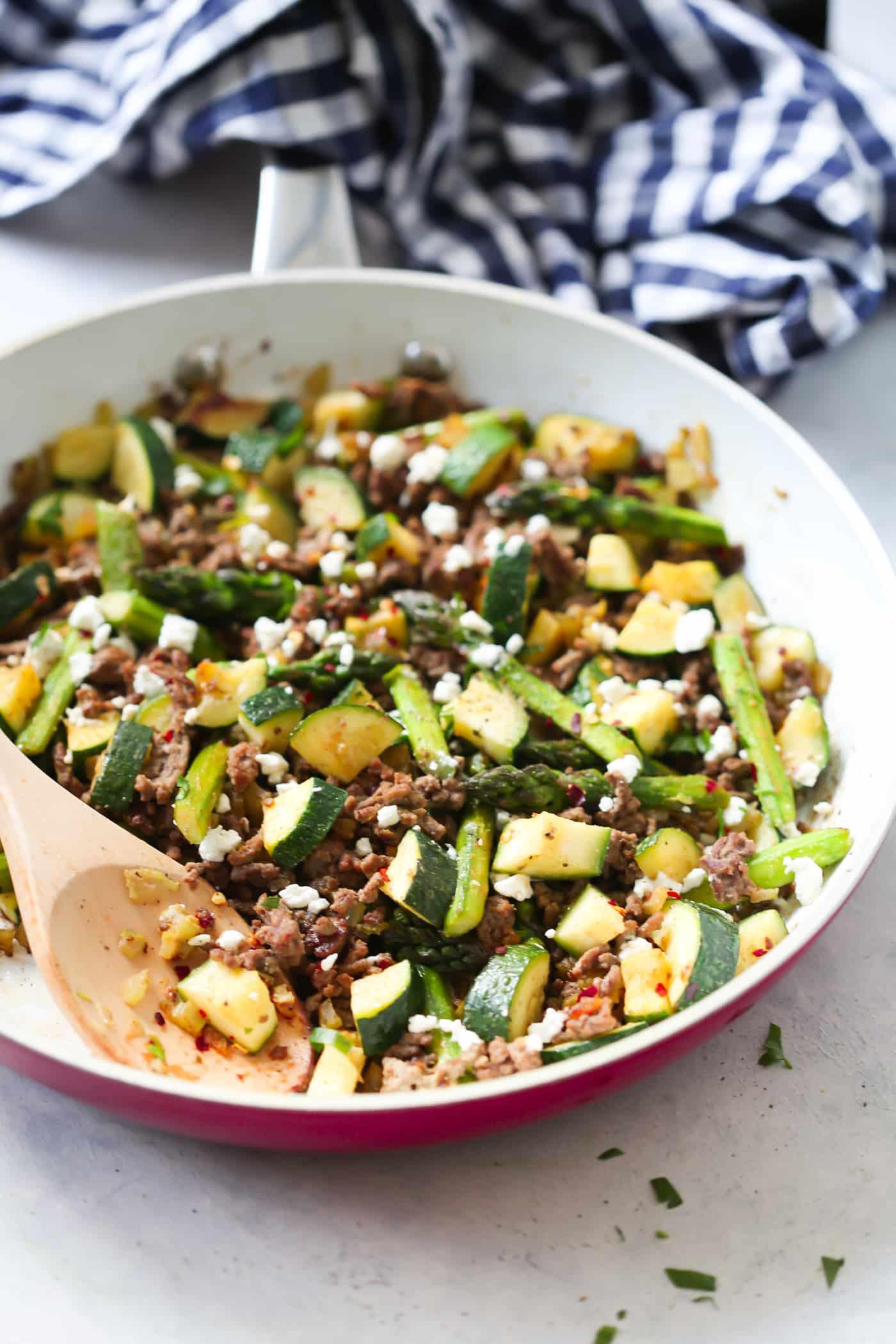 Healthy Recipes For Ground Beef  Ground Beef Veggie Skillet Recipe Primavera Kitchen