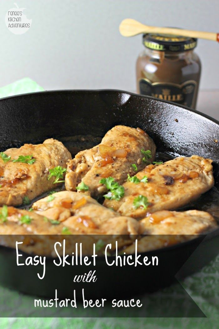 Healthy Sauces For Chicken  Easy Skillet Chicken with Mustard Beer Sauce