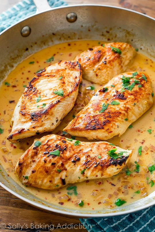 Healthy Sauces For Chicken  Quick Dinner Skillet Chicken with Creamy Cilantro Lime