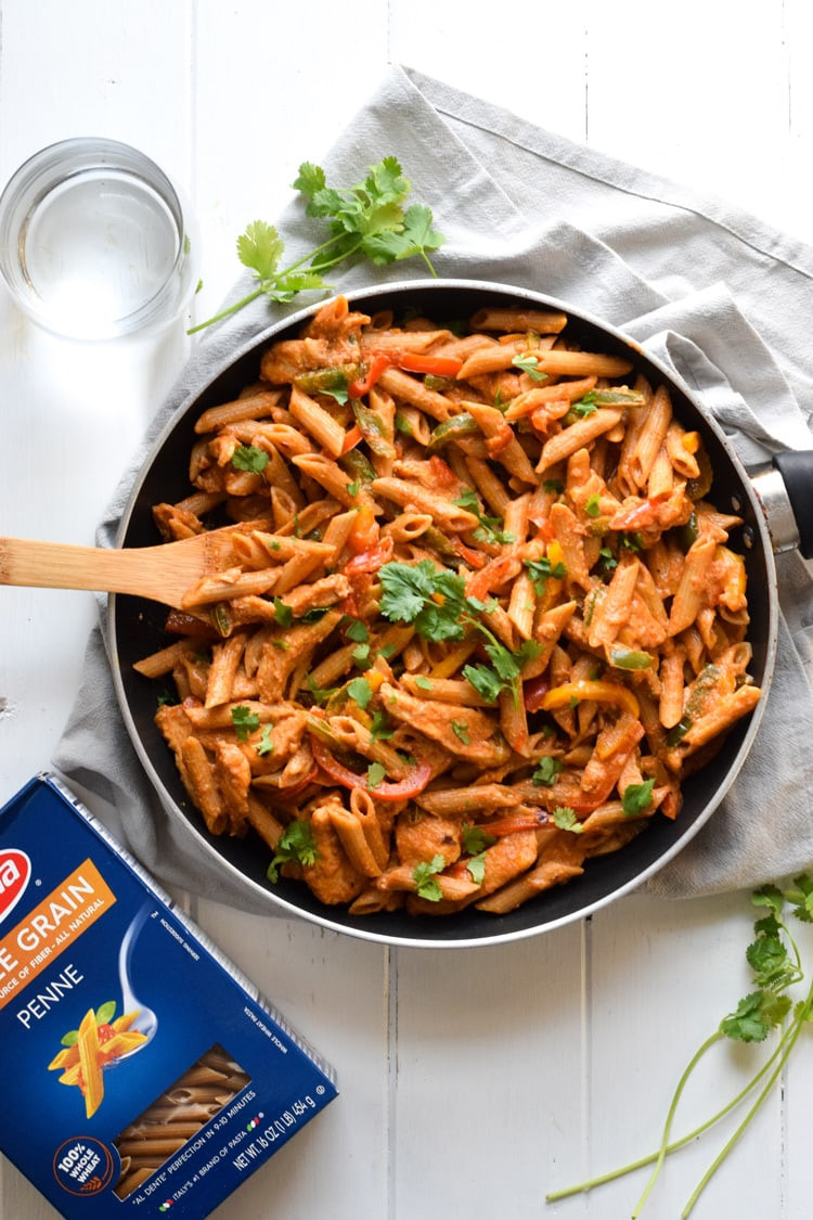Healthy Sauces For Chicken  Healthy Chicken Fajita Pasta Isabel Eats