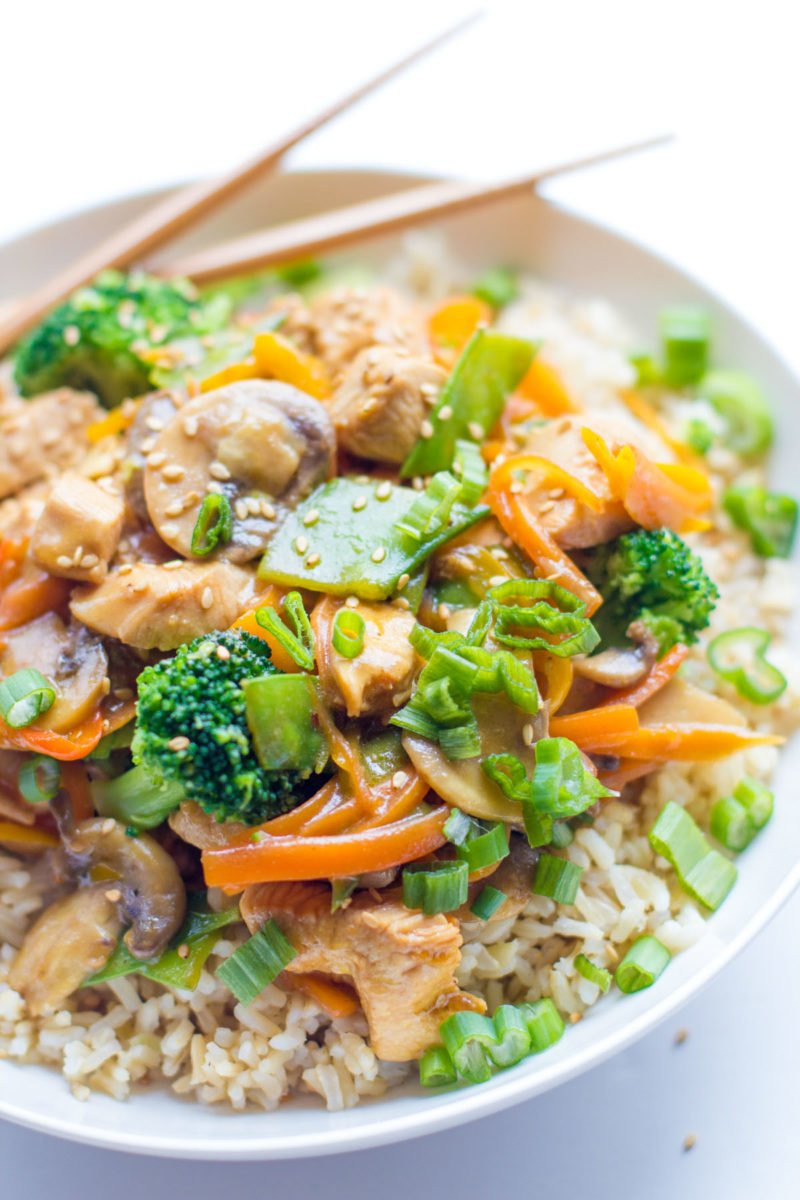 Healthy Sauces For Chicken  rice stir fry sauce