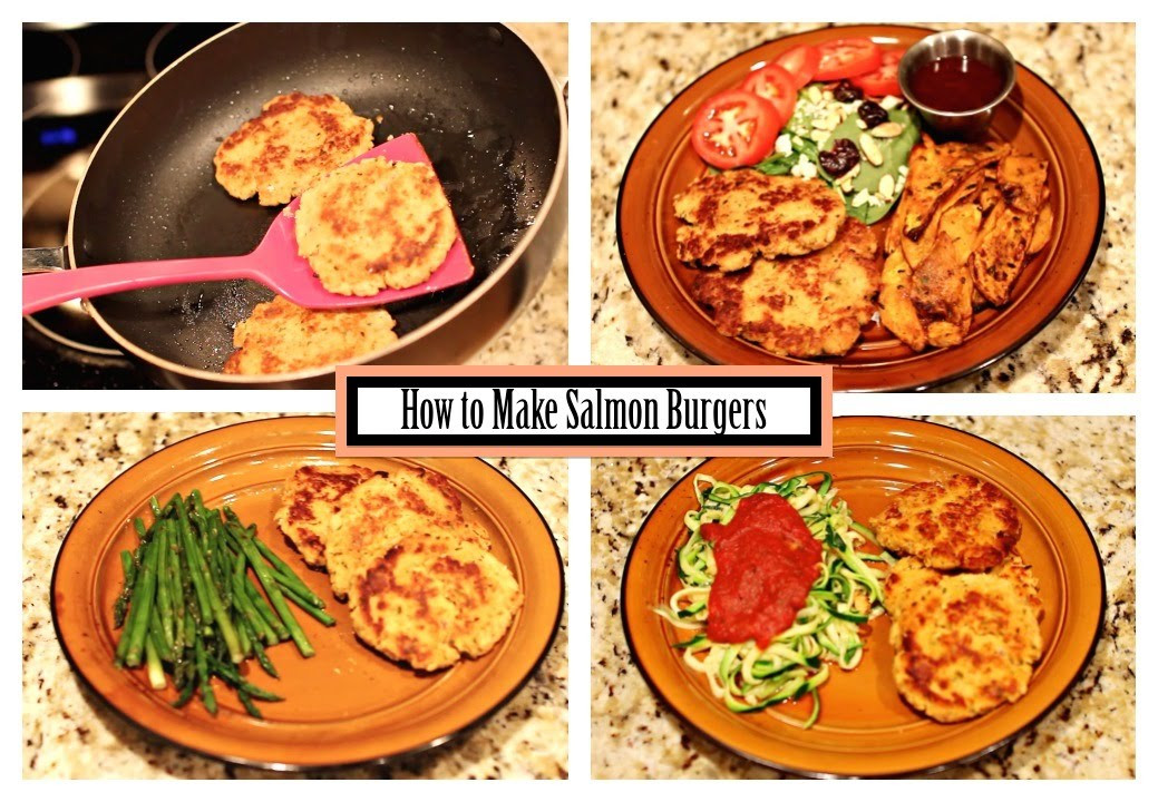Healthy Side Dishes For Burgers  How to Make Salmon Burgers Easy Recipe With Healthy