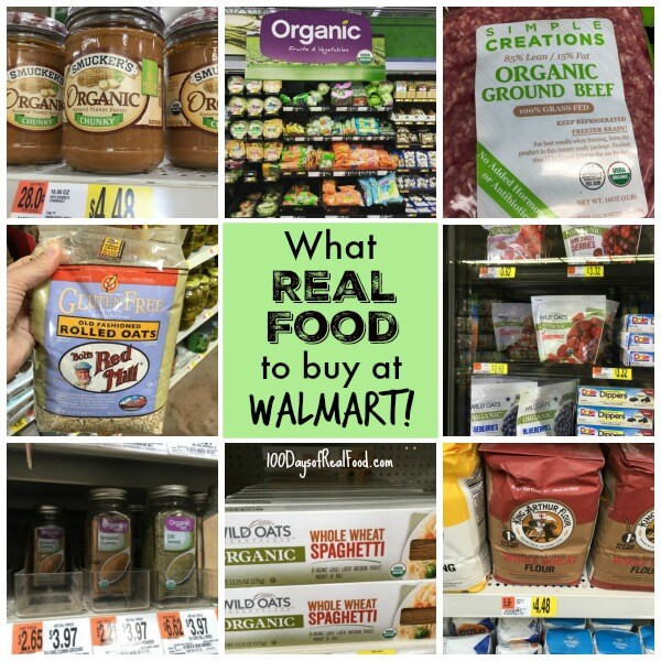 Healthy Snacks From Walmart  Real Food at Walmart What to Buy 100 Days of Real Food