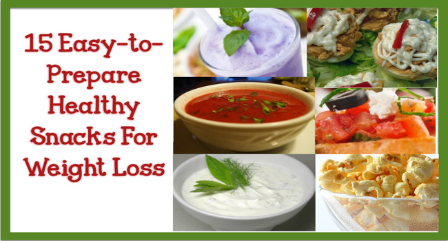 Healthy Snacks On The Go For Weight Loss  15 Easy to Prepare Healthy Snacks For Weight Loss Beyond