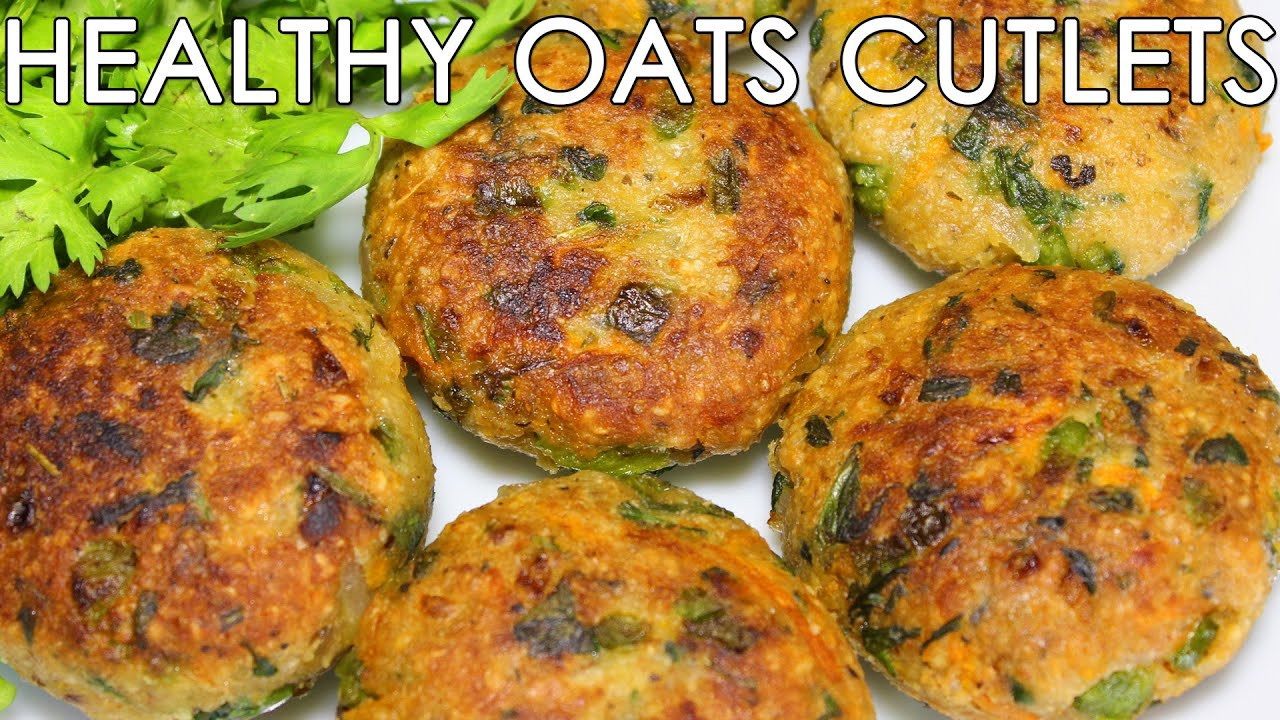 Healthy Snacks Recipes Indian  Healthy Oats & Mixed Ve able Cutlets