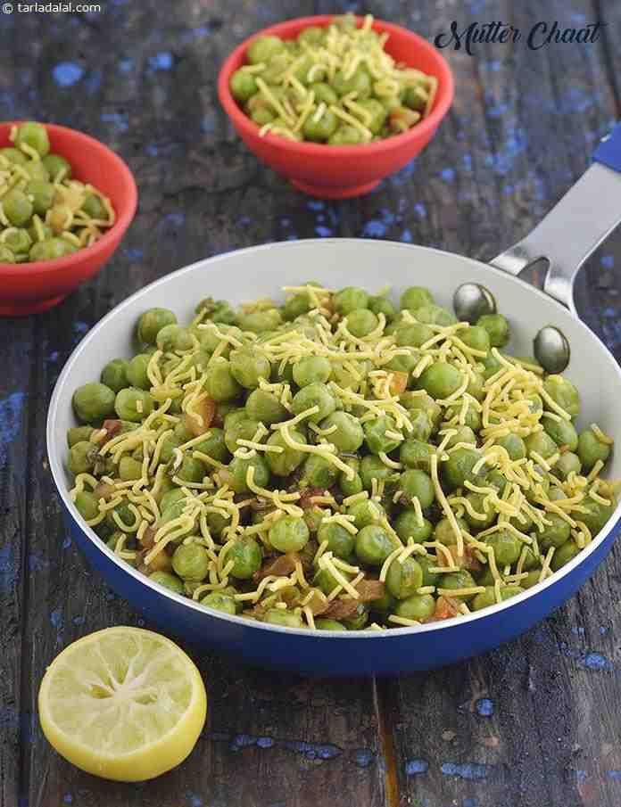 Healthy Snacks Recipes Indian  Mutter Chaat Healthy Indian Matar Snack recipe