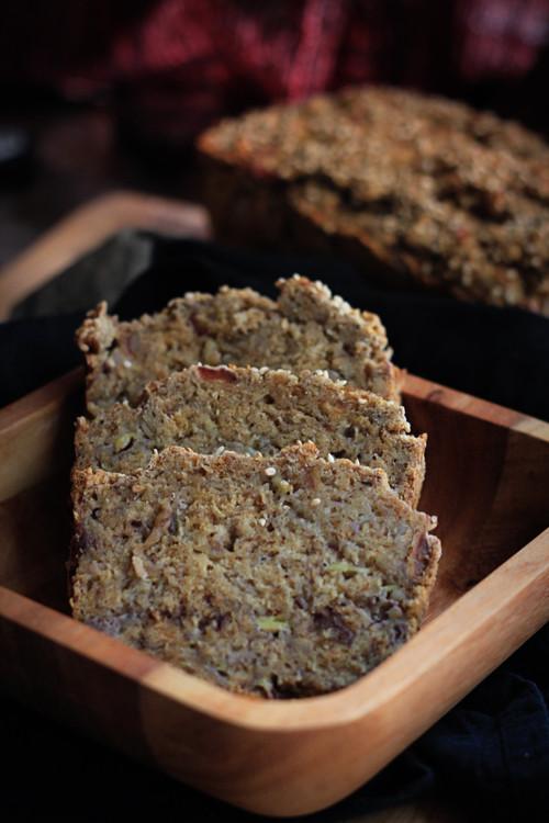 Healthy Vegan Bread  Healthy Banana Bread Whole Wheat Vegan Oil free & Sugar