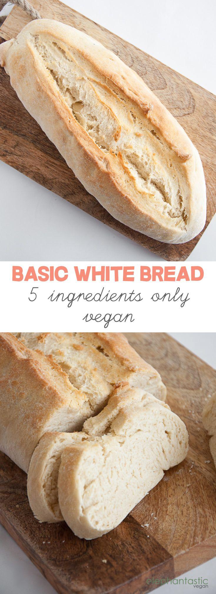 Healthy Vegan Bread Recipe  Basic White Bread vegan