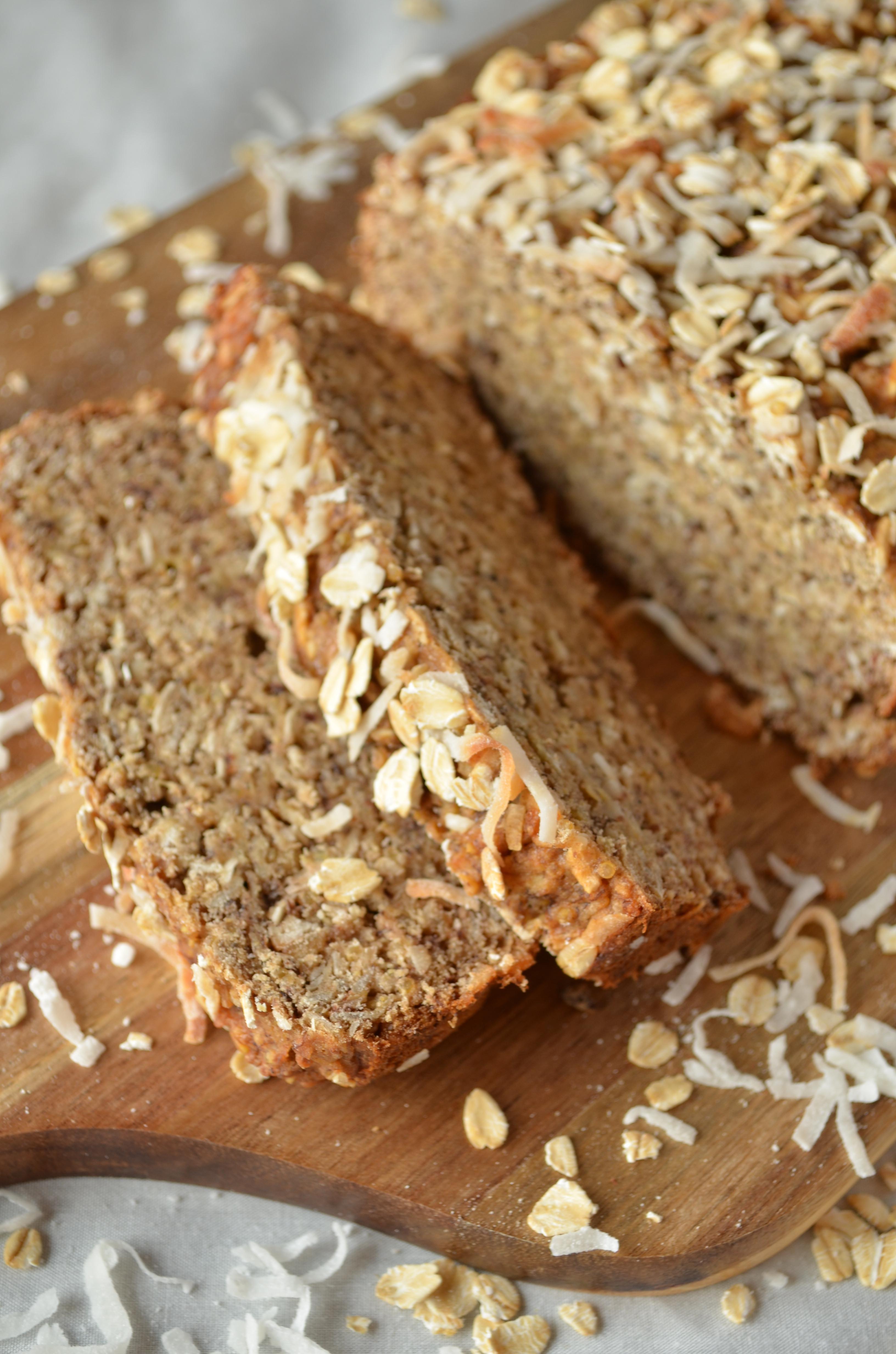 Healthy Vegan Bread Recipe  Coconut Quinoa Banana Bread Vegan
