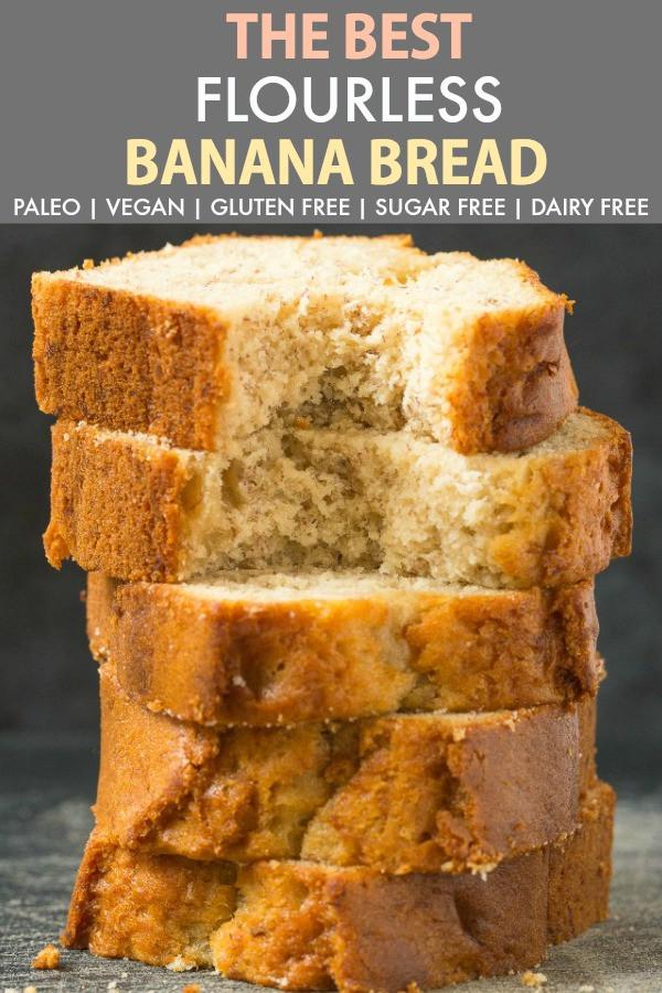 Healthy Vegan Bread Recipe  Healthy Flourless Banana Bread Paleo Vegan Gluten Free