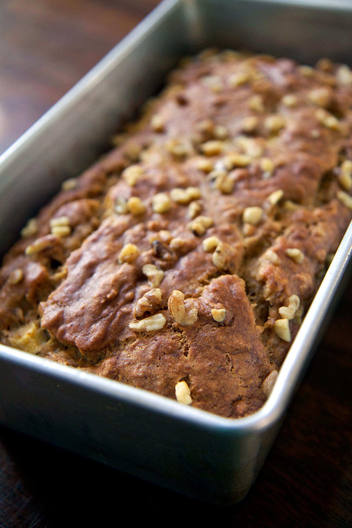 Healthy Vegan Bread Recipe  Easy And Healthy Vegan Banana Apple Chunk Bread Recipe
