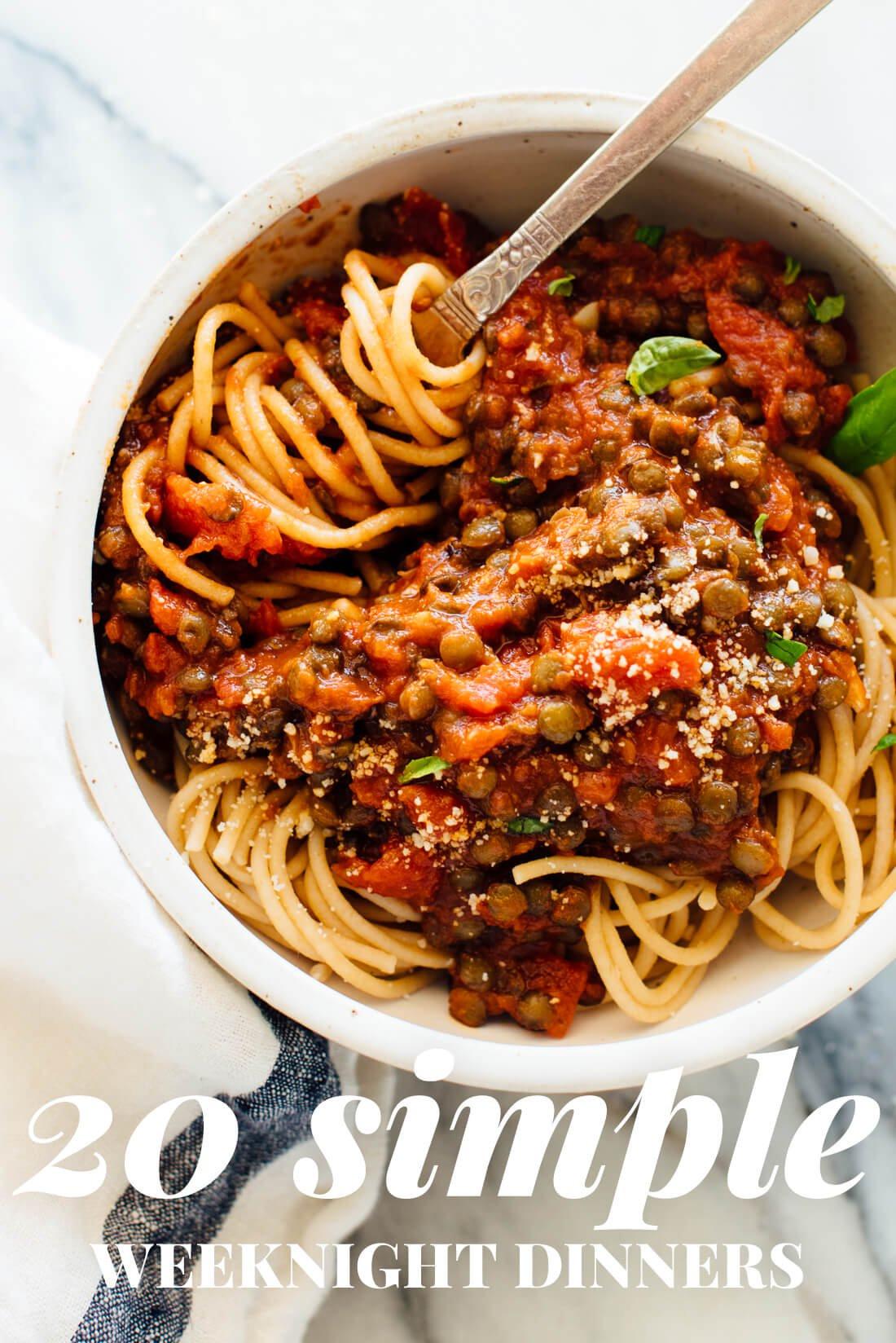 Healthy Vegan Dinners  20 Simple Ve arian Dinner Recipes Cookie and Kate