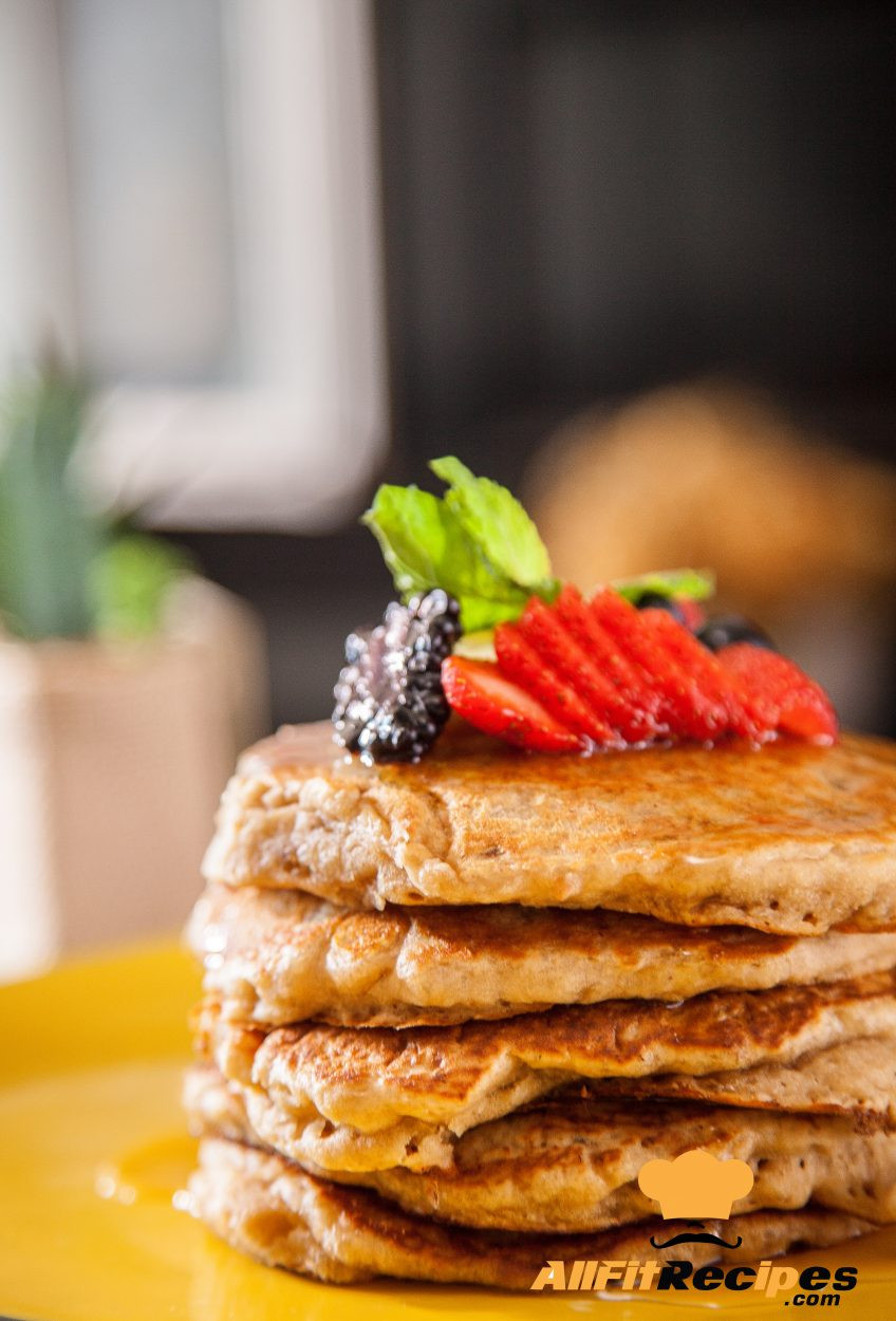 Healthy Vegan Pancakes  AllFitRecipes Breakfast recipes Vegan Healthy Pancakes