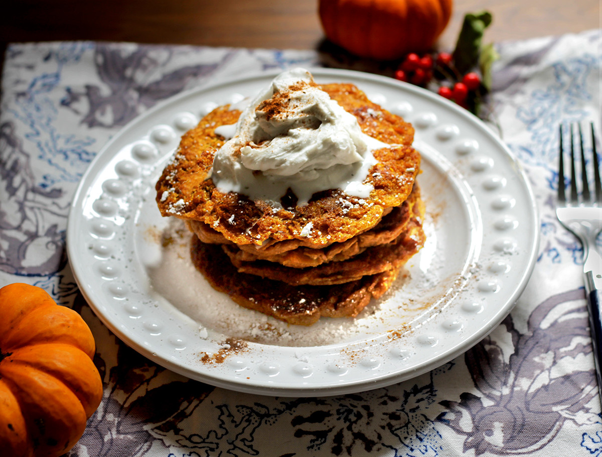 Healthy Vegan Pancakes  Healthy Breakfast Perfectly Pumpkin Vegan Pancake Recipe