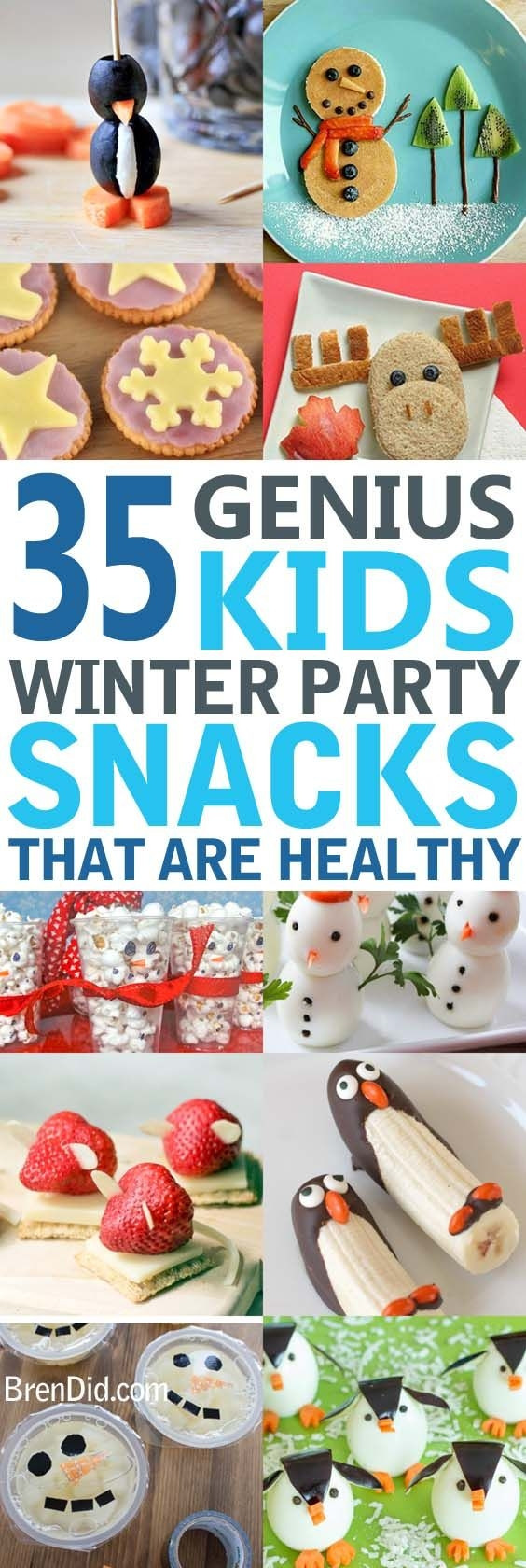 Healthy Winter Snacks  Healthy Party Treats for Kids Healthy snacks for kids