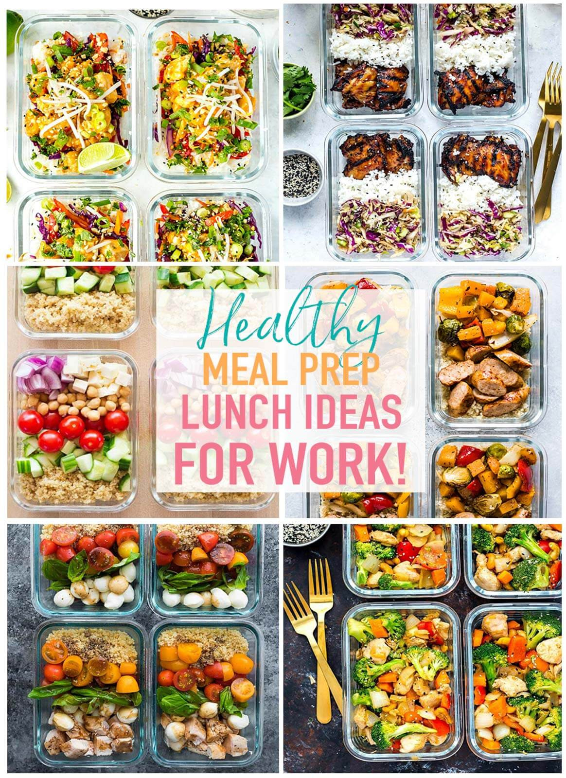 Healthy Work Lunches  20 Easy Healthy Meal Prep Lunch Ideas for Work The Girl