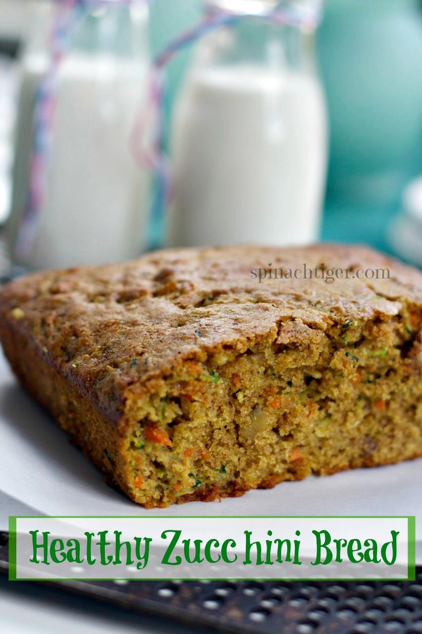 Healthy Zucchini Bread Recipe  Healthy Zucchini Bread Recipe Spinach Tiger