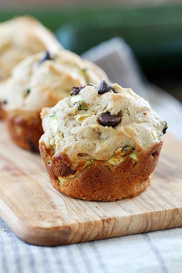 Healthy Zucchini Muffins  Healthy Chocolate Chip Zucchini Muffins Yummy Healthy Easy