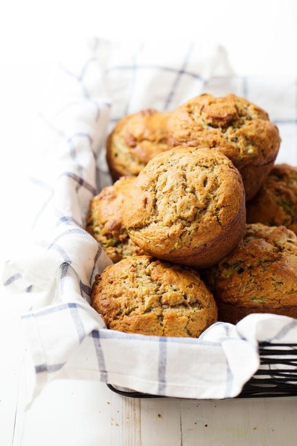 Healthy Zucchini Muffins  Honey and Olive Oil Zucchini Muffins Recipe Pinch of Yum
