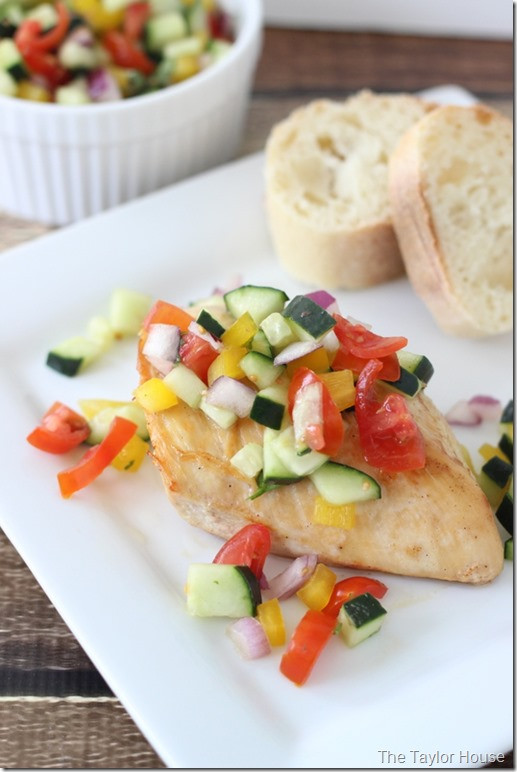 Heart Healthy Baked Chicken Recipes  Healthy Recipe Baked Chicken with Cucumber Salsa Page 2